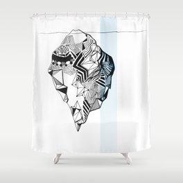 Blue Iceberg Shower Curtain