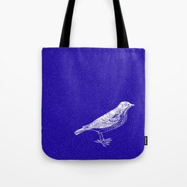 Blue Bird in the Snow Tote Bag