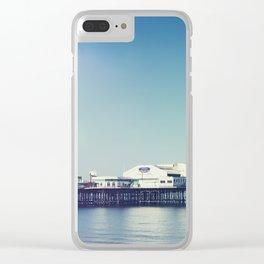 Summer pier Clear iPhone Case
