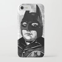 bat man iPhone & iPod Cases featuring BAT MAN by DIVIDUS