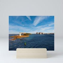 Bahamas Lighthouse with Cruise Ships Mini Art Print