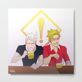 APH: Beer Friends Metal Print