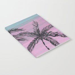 two palm trees sunset sky Notebook