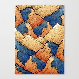 The Sea Peak Pattern Canvas Print