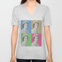God Save The Queen x 4 Unisex V-Neck