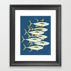 School of Tuna, fish Framed Art Print