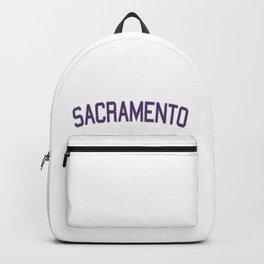 Sacramento Sports College Font Backpack