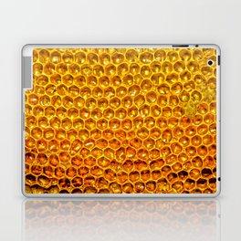 Yellow honey bees comb Laptop & iPad Skin