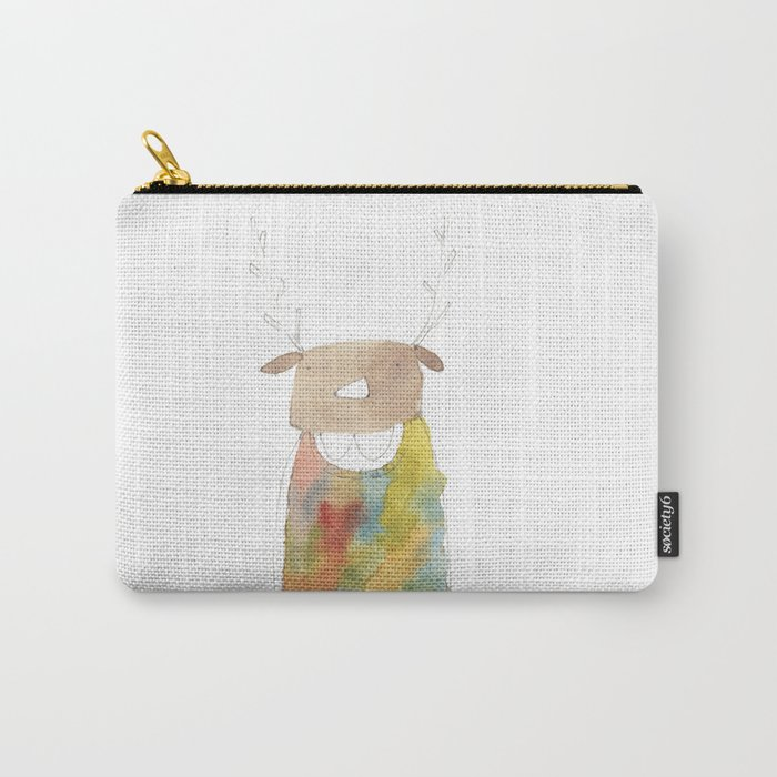 Sweater Dress Girl Reindeer Carry-All Pouch
