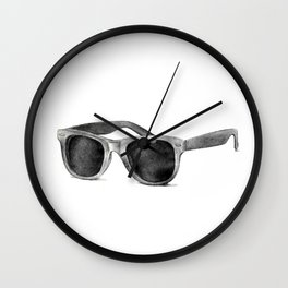 B&W Raybans - Drawing Wall Clock