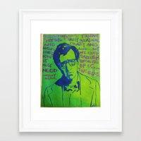 woody allen Framed Art Prints featuring Woody Allen by Butterflymush