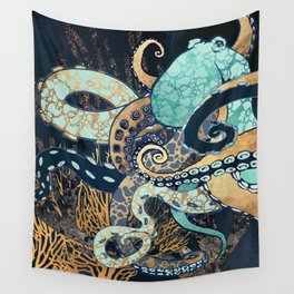 Metallic Octopus II Wall Tapestry