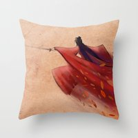 hero Throw Pillows featuring Hero by Josè Sala