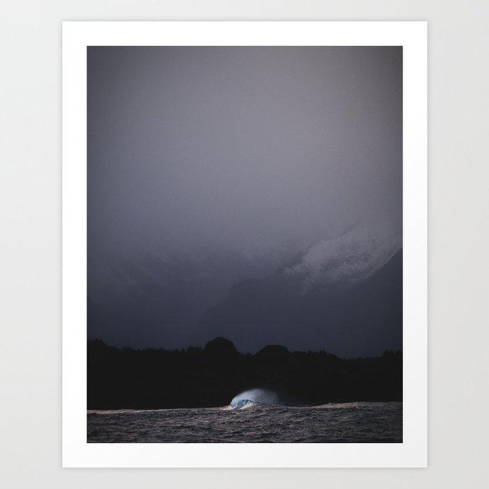 Mountain&wave Art Print