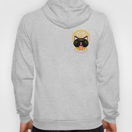 Earnest Black Cat With Halo Hoody