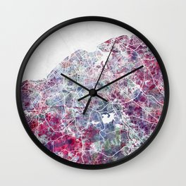 La Habana map Wall Clock