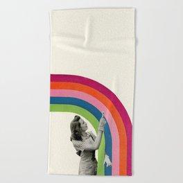 Paint a Rainbow Beach Towel