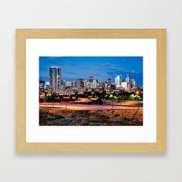 Denver Mile High Skyline Framed Art Print