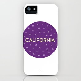 069 travel to California iPhone Case