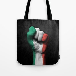 Italian Flag on a Raised Clenched Fist Tote Bag