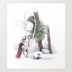 St Nicholas and the Pine Marten Art Print