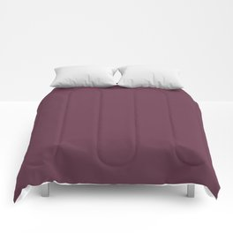 Color inspired by Valspar America Berry Brown Red Purple 1010-7 Solid Color Comforters