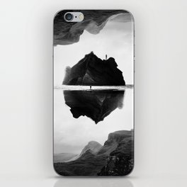 Black and White Isolation Island iPhone Skin
