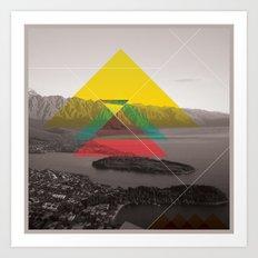 Sojourn series - Queenstown Art Print
