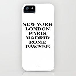 cities marfa fashion print iPhone Case