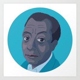 Queer Portrait - James Baldwin Art Print