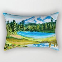 Mt. Rainier Reflections Lake Rectangular Pillow