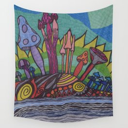 Mad for Mushrooms Wall Tapestry
