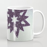 snowflake Mugs featuring snowflake by Beverly LeFevre