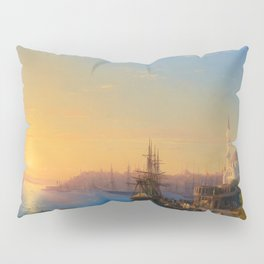 Ivan Aivazovsky - View of Constantinople and the Bosphorus Pillow Sham