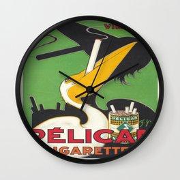 Vintage poster - Pelican Cigarettes Wall Clock