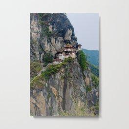 Bhutan: The Tiger's Nest Monastery Metal Print