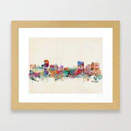 winnipeg canada skyline Framed Art Print
