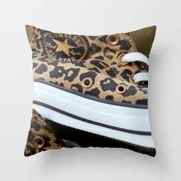 Converse leopard All Stars Throw Pillow
