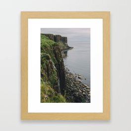 Kilt Rock and Mealt Falls Framed Art Print
