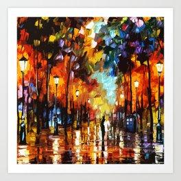 Tardis Art And The Couple Starry Night Art Print