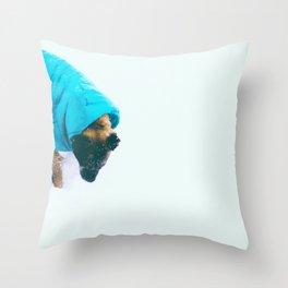 Entei in the Snow Throw Pillow