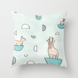 peninsular pronghorn Throw Pillow