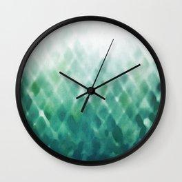 Diamond Fade in Teal Wall Clock