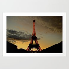 Tower Sunset Art Print