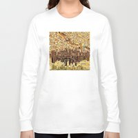 minneapolis Long Sleeve T-shirts featuring minneapolis city skyline by Bekim ART