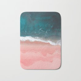 Turquoise Sea Pastel Beach III Bath Mat