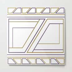 Geometry on white (abstract) Metal Print
