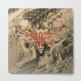 Anatomical Death's Head Hawk Moth Metal Print
