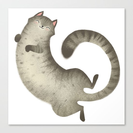 Happy Kitty Canvas Print