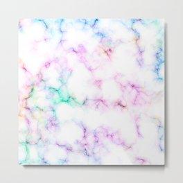 Mermaid pearl marble Metal Print